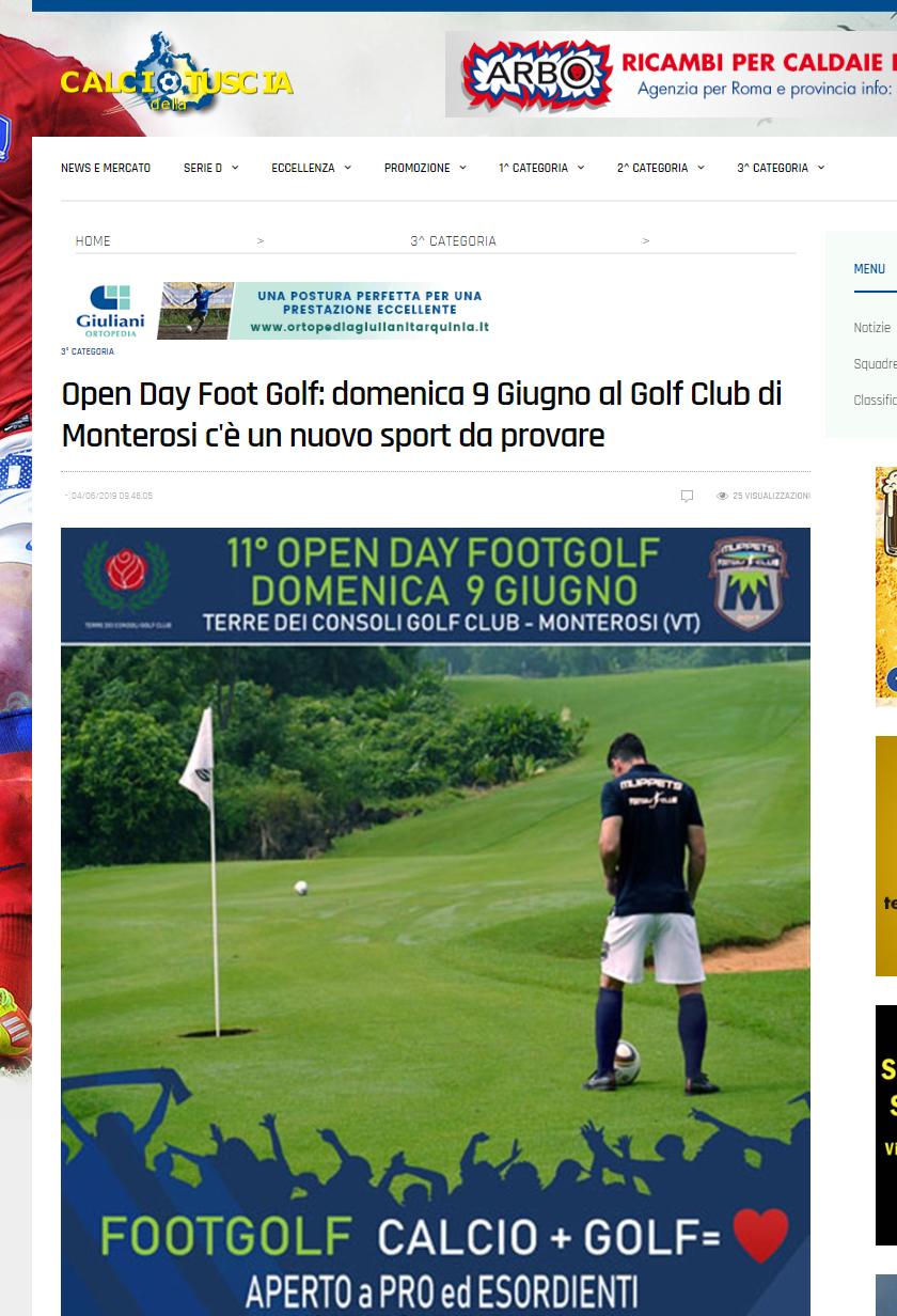 Open Day Foot Golf: domenica 9 Giugno al Golf Club di Monterosi c'è un nuovo sport da provare