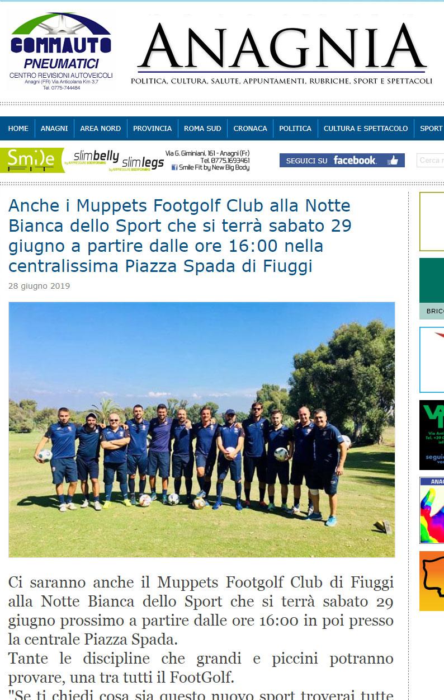 Anagnia Articolo Notte Bianca dello Sport a Fiuggi Terme