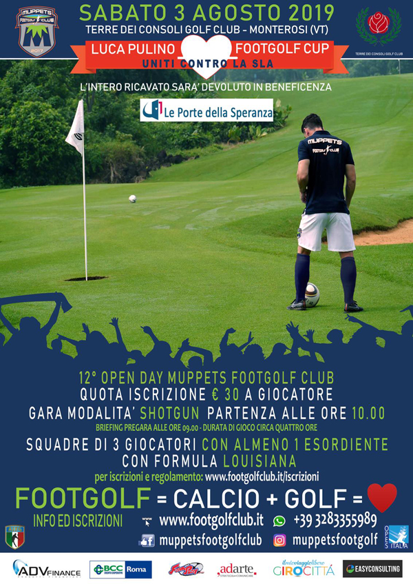Luca Pulino FootGolf Cup 2019 - Uniti Contro la SLA 12° Open Day Muppets FootGolf
