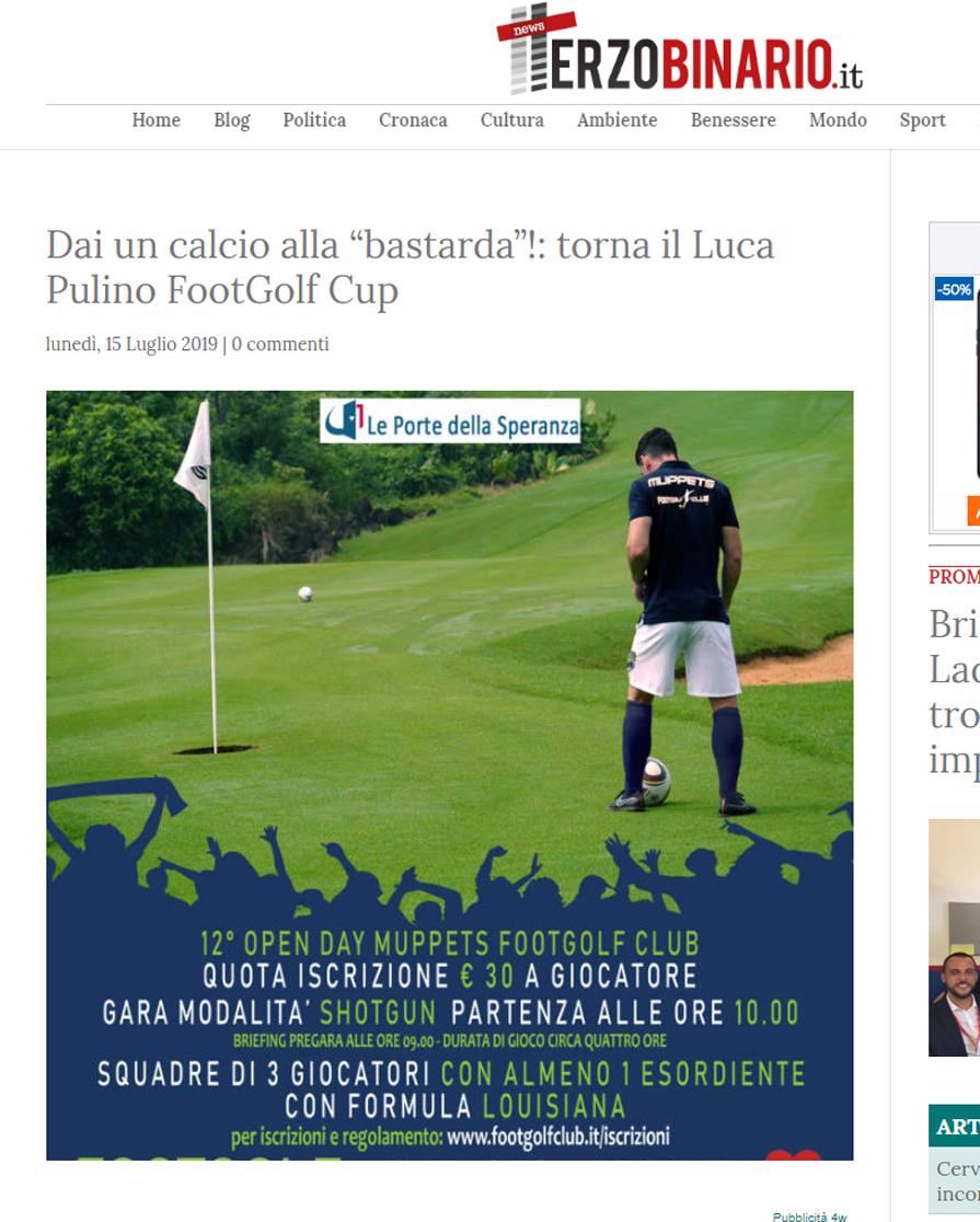 """Dai un calcio alla """"bastarda""""!: torna il Luca Pulino FootGolf Cup"""