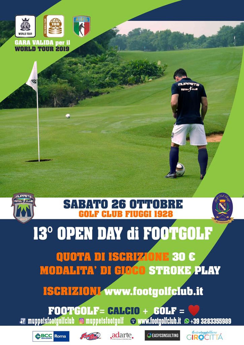 Locandina 13° Open Day Muppets Footgolf